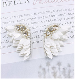 Treasure Jewels Angel White Wing Earrings