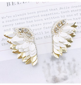 Treasure Jewels Angel Wing Nude Earrings