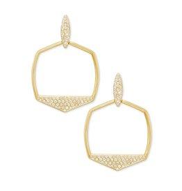 Kendra Scott Gold Selena Open Frame Earrings