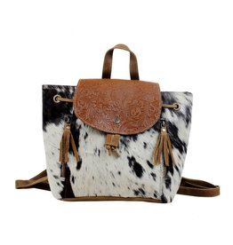 Hair On Hide w/Tooled Leather BackPack S-43