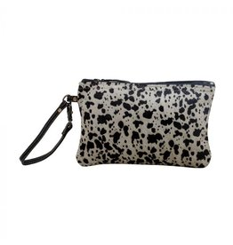 Pattern Hair On Hide Wristlet  S-16