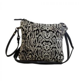 Snake Print Hair On Hide Cross Body S-21