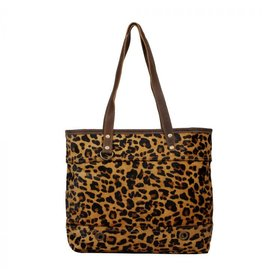 Leopard Print Hair On Hide Tote S-12