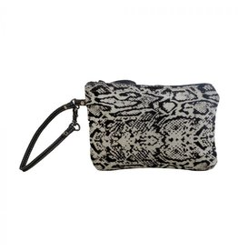 Snake Print Hair On Hide Wristlet S-29