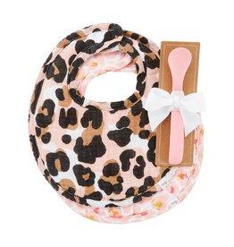 Leopard Muslin Bibs & Spoon Set