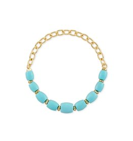 Kendra Scott Demi Stretch Bracelet Gold Lt. Blue Magnesite