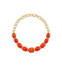 Kendra Scott Demi Stretch Bracelet Gold Papaya Pearl