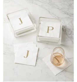 Acrylic Initial Napkin Holder Set