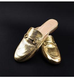 Shu Shop Talisa Gold Metallic Slides