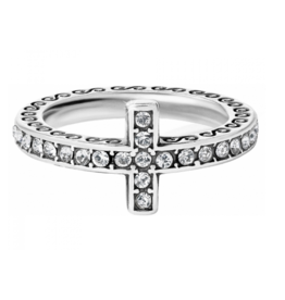 Brighton Silver Starry Night Cross Ring - 6