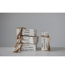 8.5in Stacked Book Home Decor