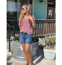 Another Love Taylor V Neck Tee in Wild Rose Stripe