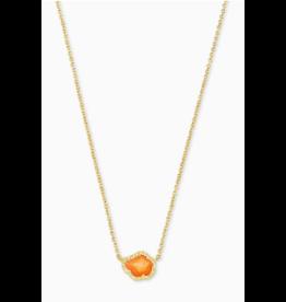 Kendra Scott Tessa Short Necklace Gold Papaya Pearl