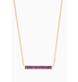 Kendra Scott Jack Short Necklace Gold Purple Crystal