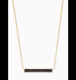 Kendra Scott Jack Short Necklace Gold Black Spinel