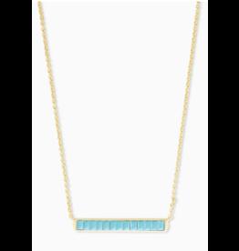 Kendra Scott Jack Short Necklace Gold Turquoise Crystal