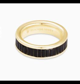 Kendra Scott Jack Band Gold Black Spinel