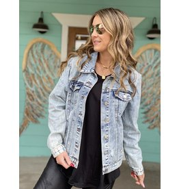 Distressed Light Denim Jacket