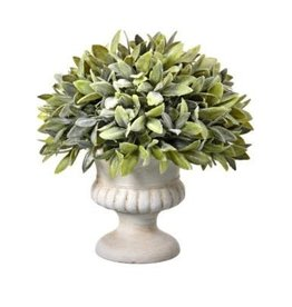 Flocked Sage Dome Urn