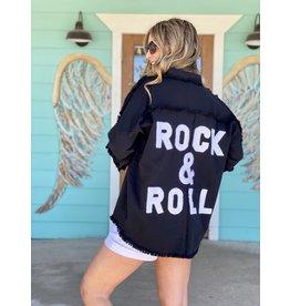 Rock & Roll Shirt Jacket in Black