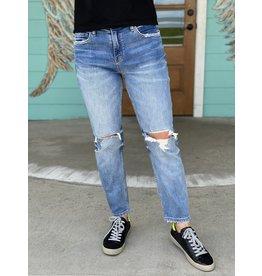 Distressed Stretch Boyfriend Jeans