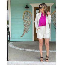 White Open Long Sleeve Blazer