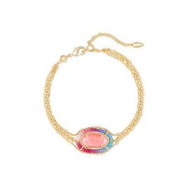 Kendra Scott Threaded Elaina Bracelet Gold Coral Illusion
