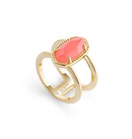 Kendra Scott Elyse Ring Gold Coral Illusion