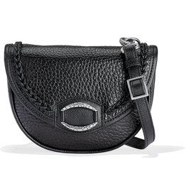 Brighton Ravyn Handbag in Black Leather
