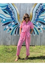 Pink Washed Utility Jumpsuit