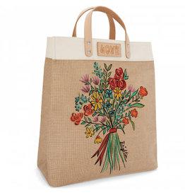 Brighton Bella Bouquet Burlap Tote