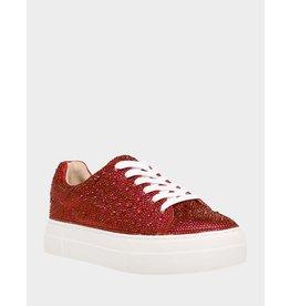 Betsey Johnson Sidny Red Rhinestone Sneaker