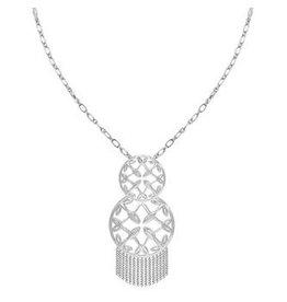 Natalie Wood Grace Tassel Pendant Necklace- Silver