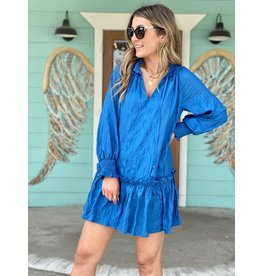 Azure Blue Smocked Dress