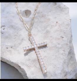 Treasure Jewels Cross Necklace
