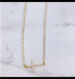 Treasure Jewels Crystal Cross Necklace