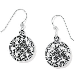 Brighton Interlok Medallion Fr Wire Earrings