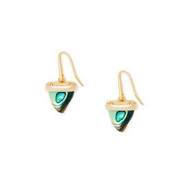 Kendra Scott Oleana Drop Earrings Gold Abalone
