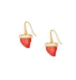 Kendra Scott Oleana Drop Earrings Gold Red Pearl