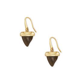 Kendra Scott Oleana Drop Earrings Gold Golden Obsidian