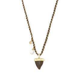 Kendra Scott Oleana Long Necklace Gold Golden Obsidian