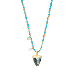 Kendra Scott Oleana Long Necklace Gold Abalone Shell