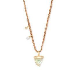 Kendra Scott Oleana Long Necklace Gold Iridescent Abalone