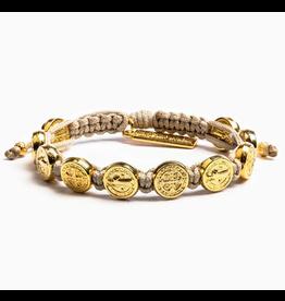 MSMH Benedictine Blessing Bracelet - Tan/Gold
