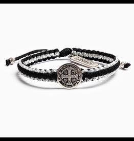 MSMH Gratitude Blessing Bracelet - Blk/Sil/Sil