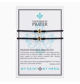 MSMH Prayer Partner Bracelet - Black/Gold