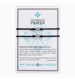 MSMH Prayer Partner Bracelet - Black/Silver