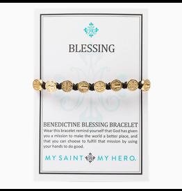 MSMH Benedictine Blessing Bracelet Black/Gold