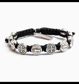 MSMH Benedictine Blessing Bracelet-Black/Silver