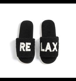 Relax Black Slippers